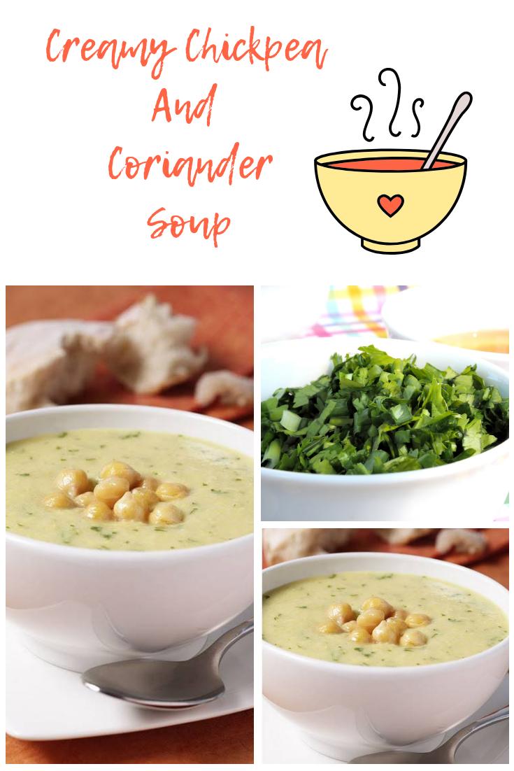 Creamy Chickpea And Coriander Soup