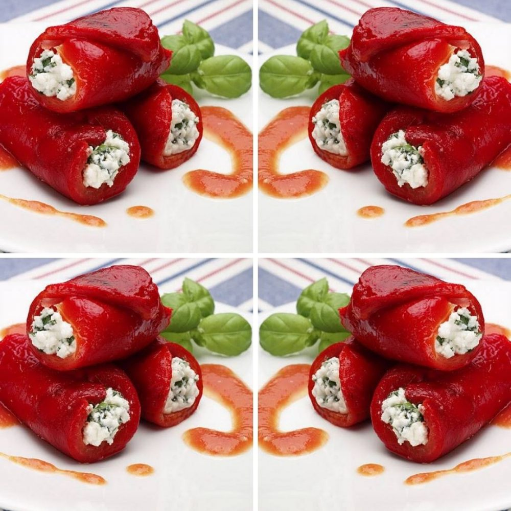 Stuffed Peppers With Ricotta And Basil