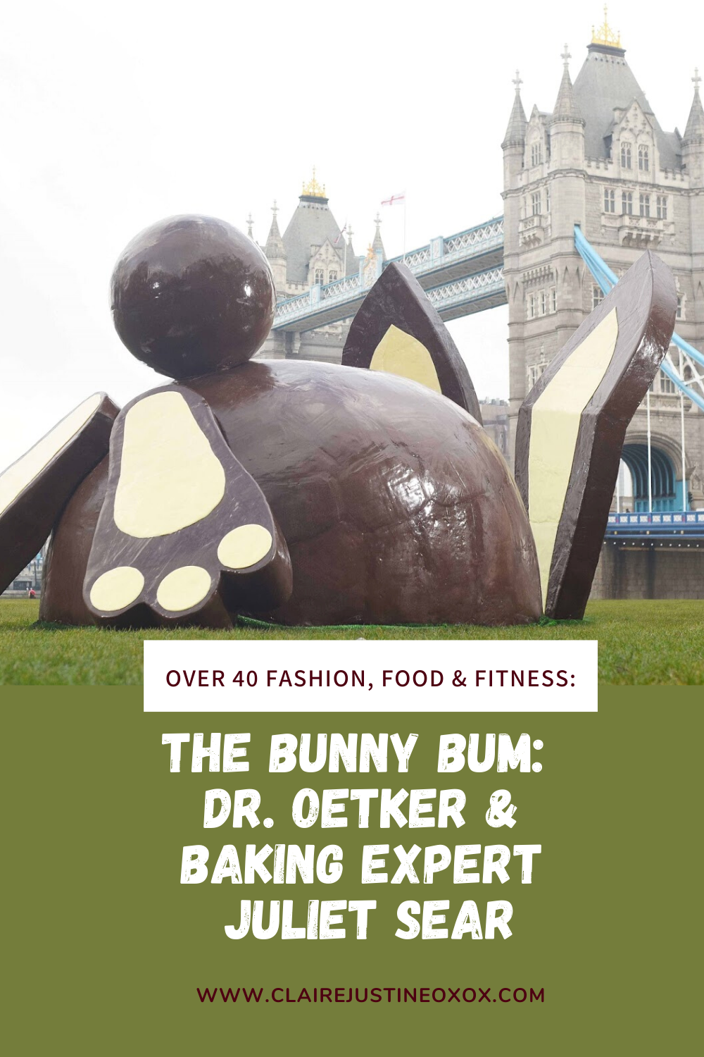 The Bunny Bum:  Dr. Oetker & Baking Expert Juliet Sear