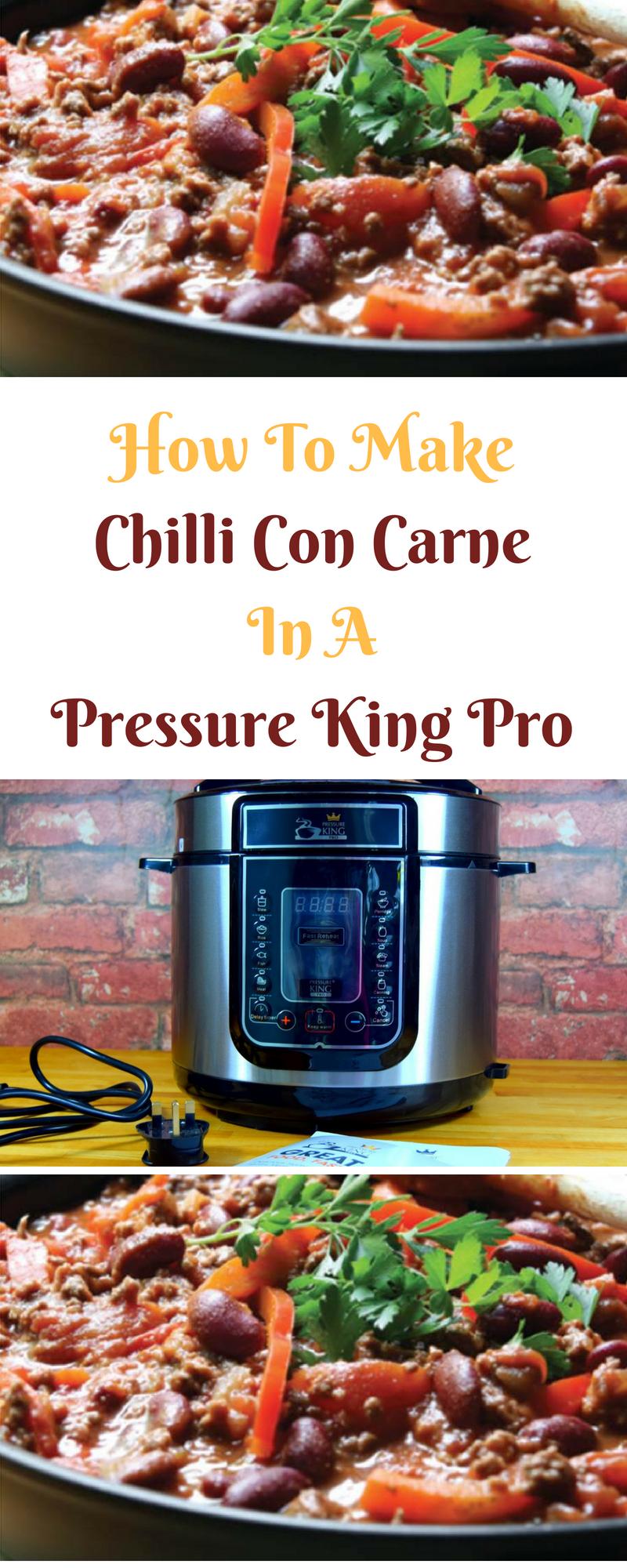 Pressure King Pro Recipe: Chilli Con Carne