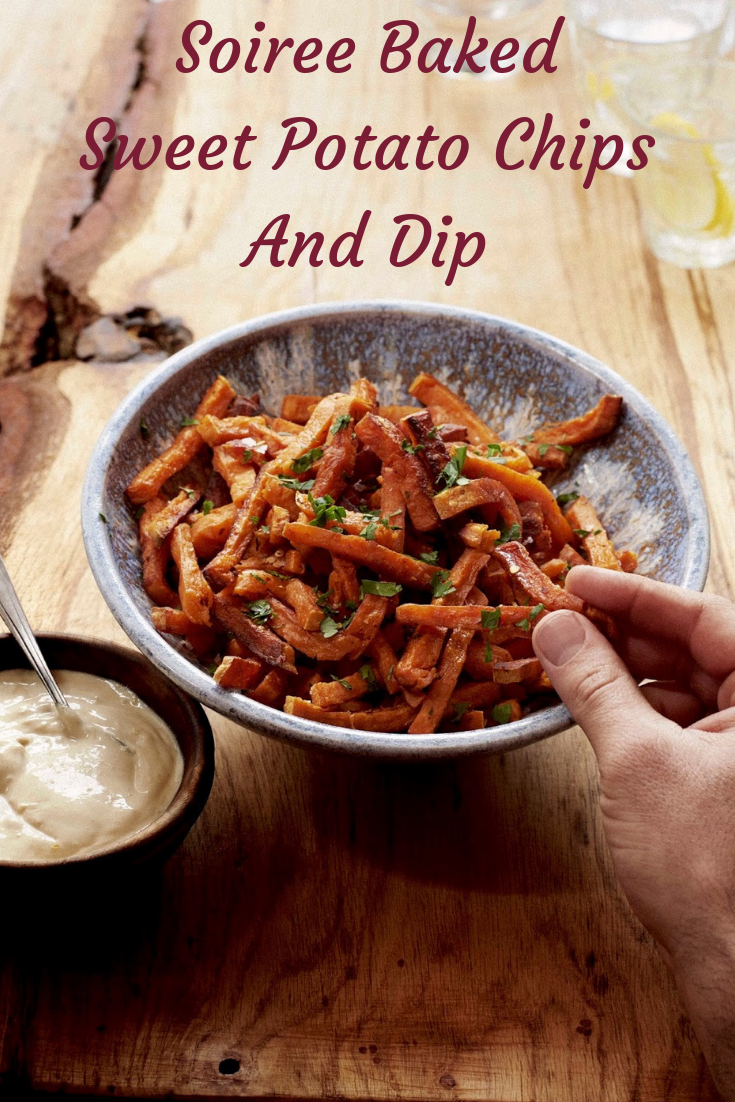 Soiree Baked Sweet Potato Chips And Dip
