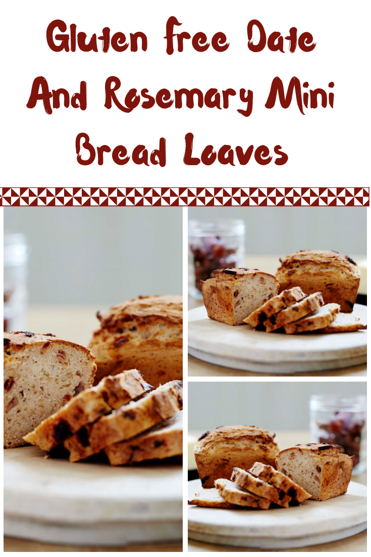 Gluten Free Date And Rosemary Mini Bread Loaves