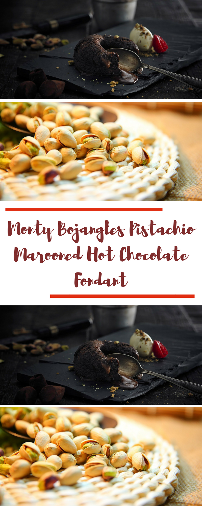 Monty Bojangles Pistachio Marooned Hot Chocolate Fondant