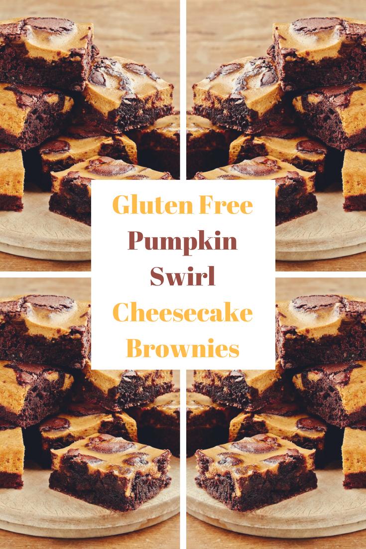 Gluten Free Pumpkin Swirl Cheesecake Brownies
