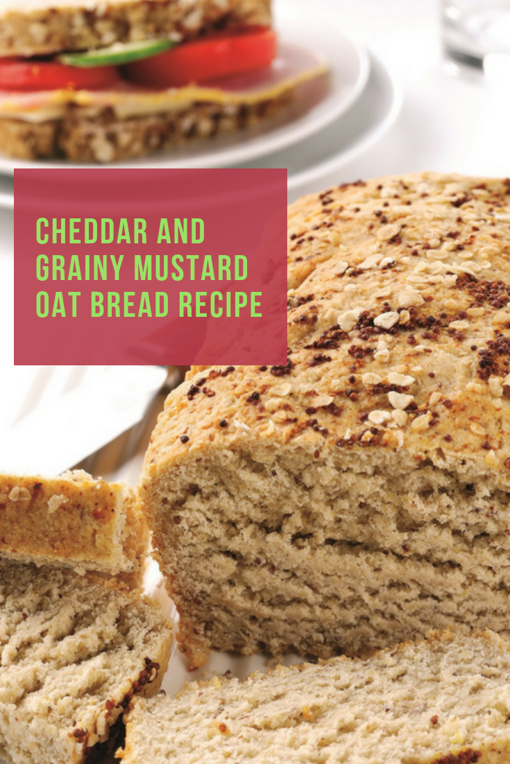 Cheddar And Grainy Mustard Oat Bread