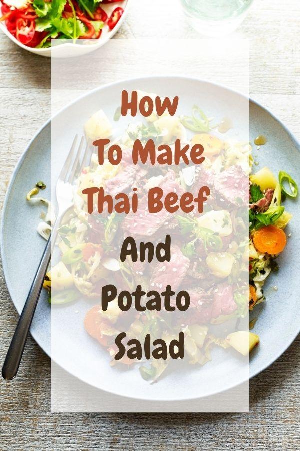 Thai Beef And Potato Salad