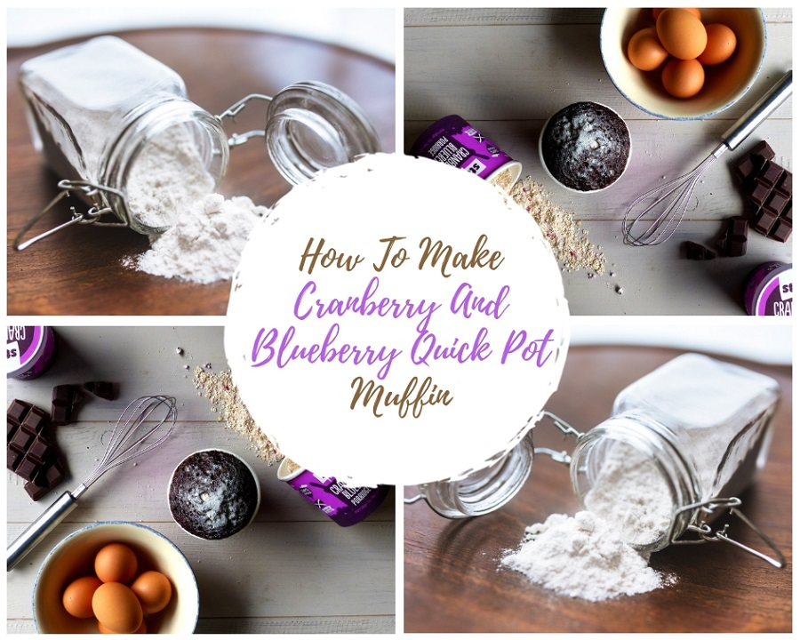 How To Make Cranberry And Blueberry Quick Pot Muffin