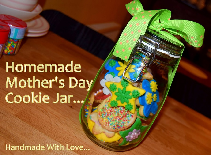 Homemade Mother's Day Cookie Jar Gift Idea