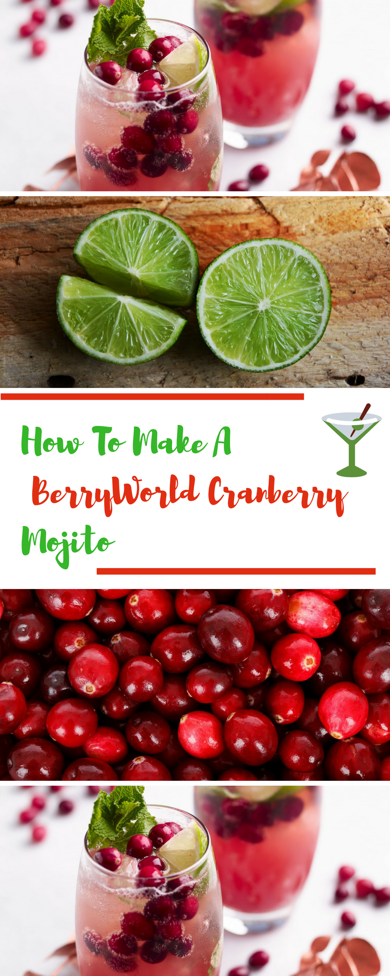 How To Make A BerryWorld Cranberry Mojito