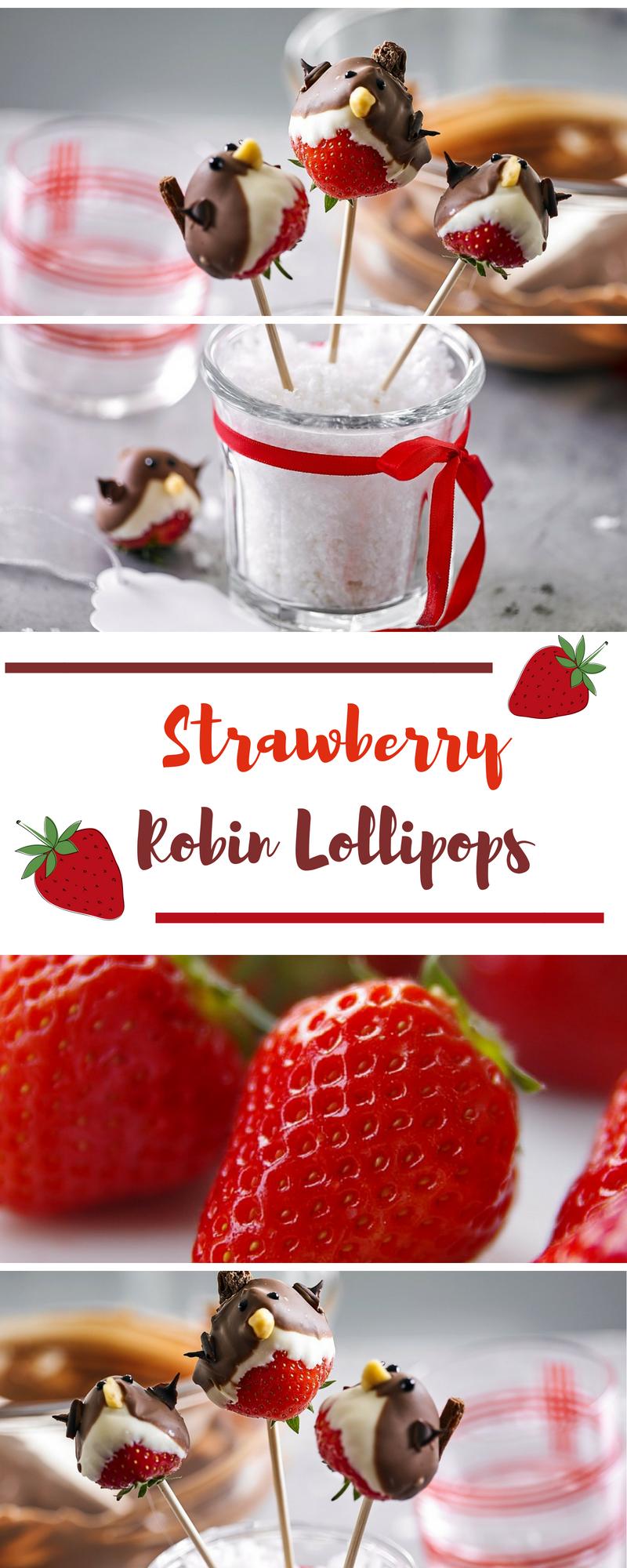 Strawberry Robin Lollipops