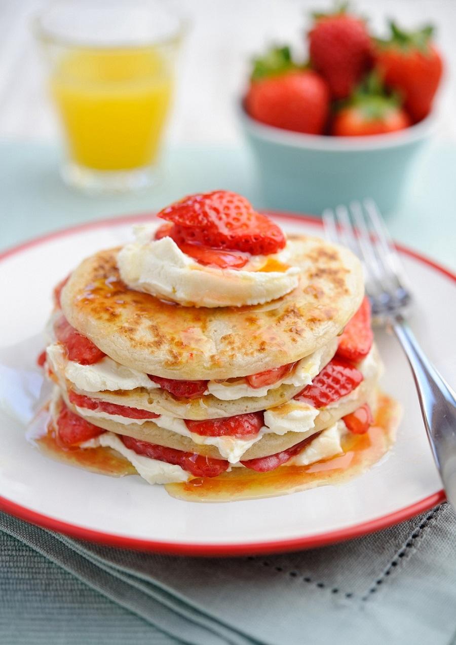 BerryWorld Strawberry Scotch Pancakes