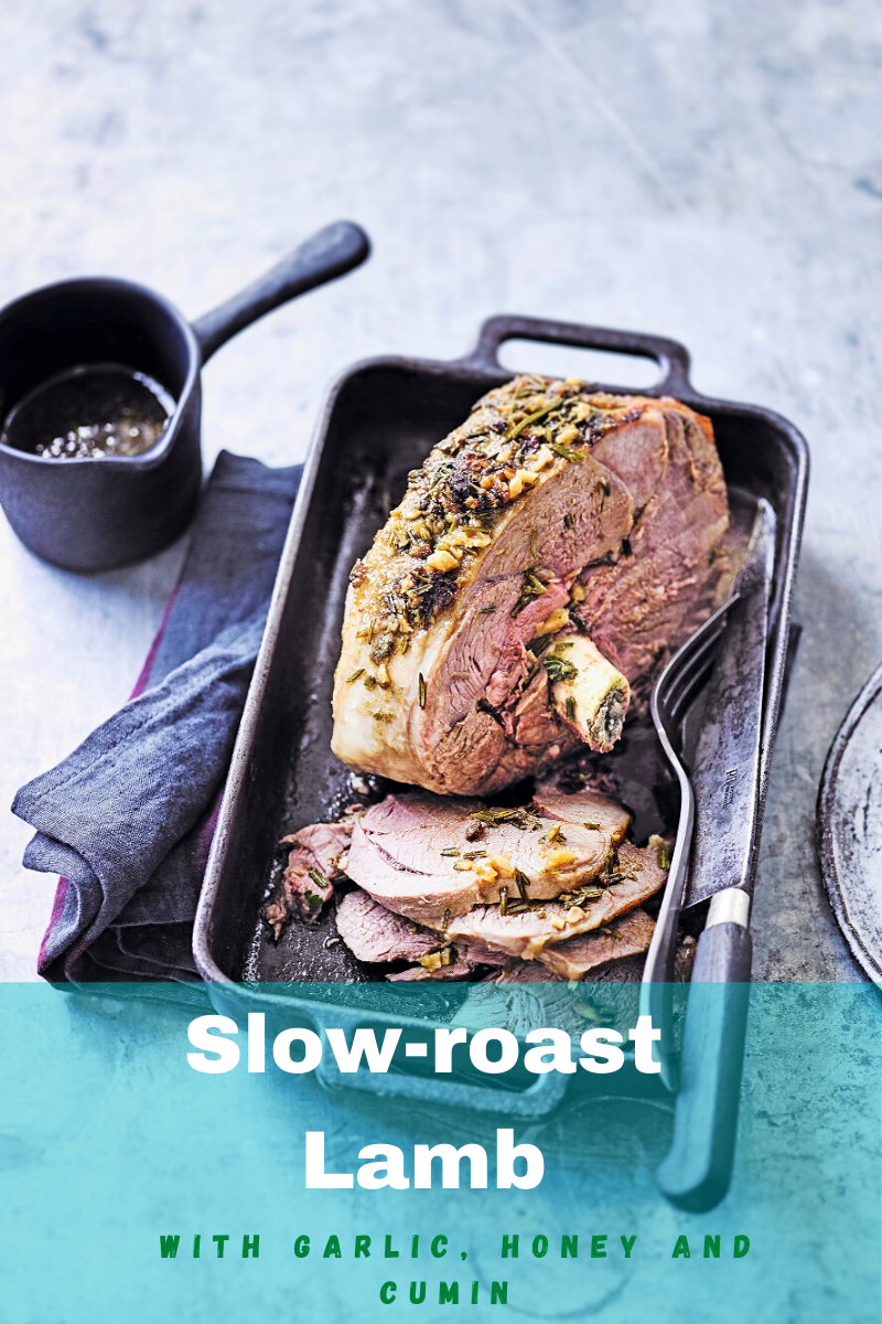 Slow-roast Lamb With Garlic, Honey And Cumin