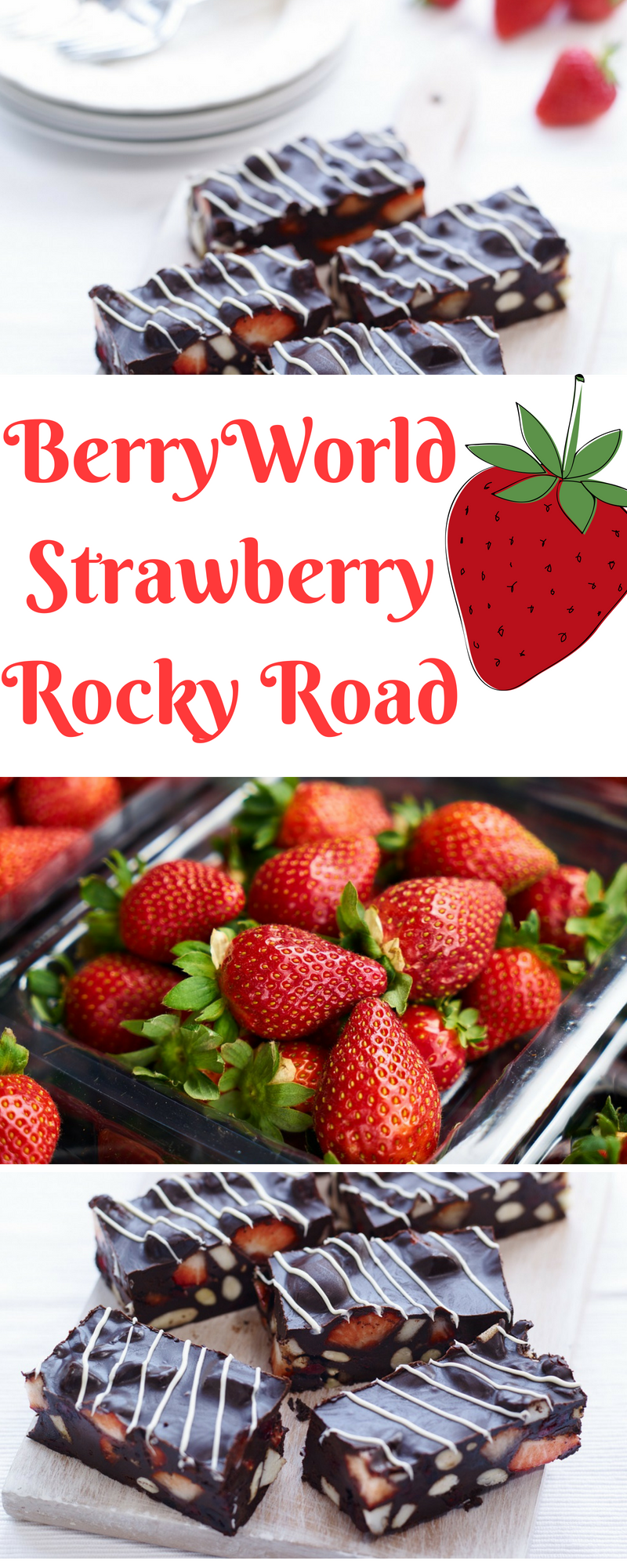 BerryWorld Strawberry Rocky Road