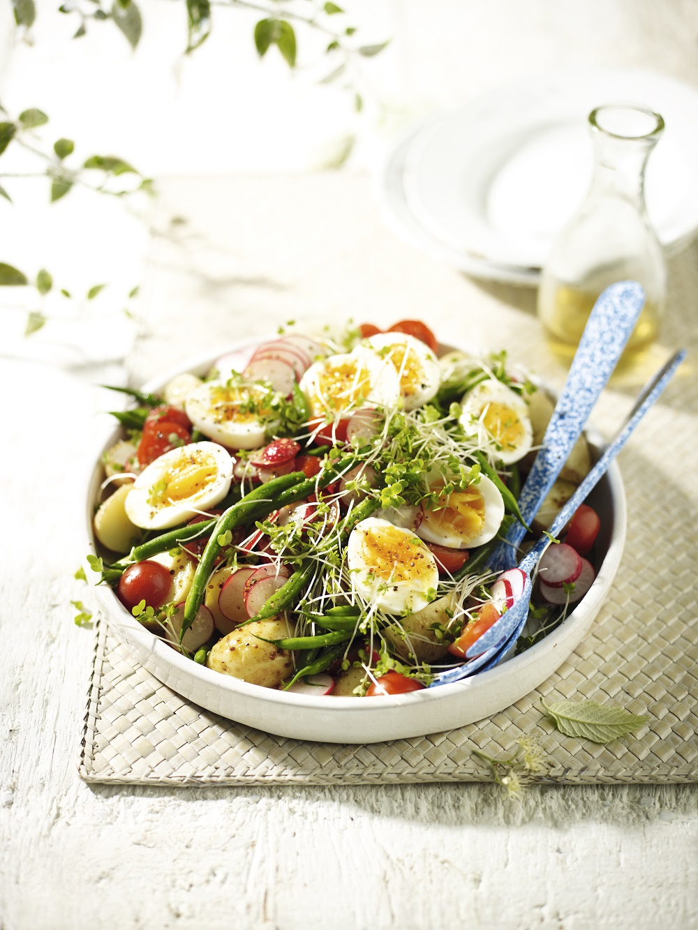 British Summer Salad With Honey-Mustard Dressing