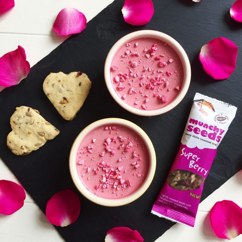 Champagne And Raspberry Possets With Shortbread