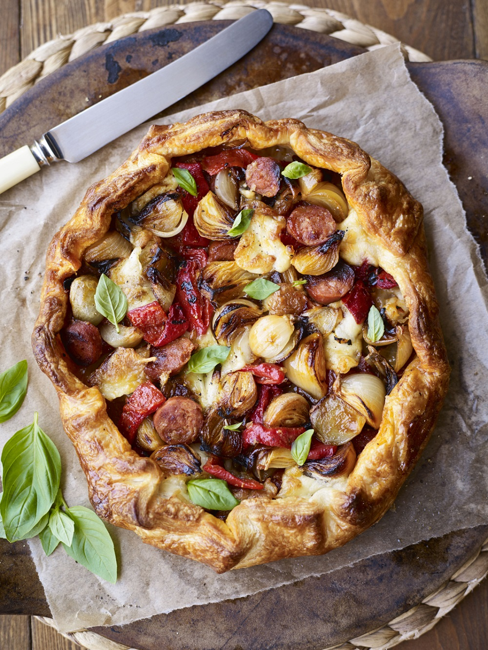 How To Make A Chorizo And Shallot Galette