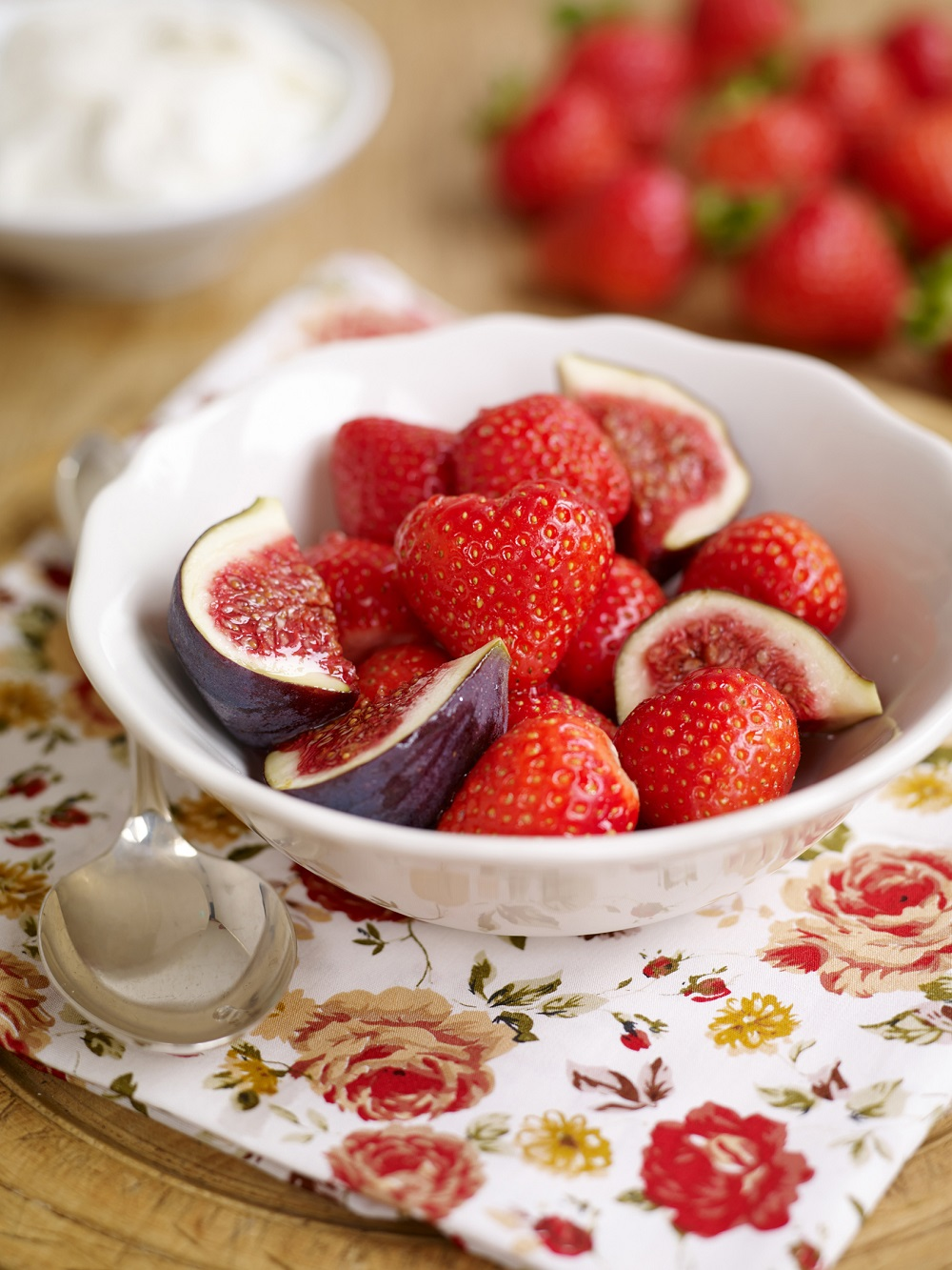 BerryWorld Strawberry, Fig and Rosewater Salad
