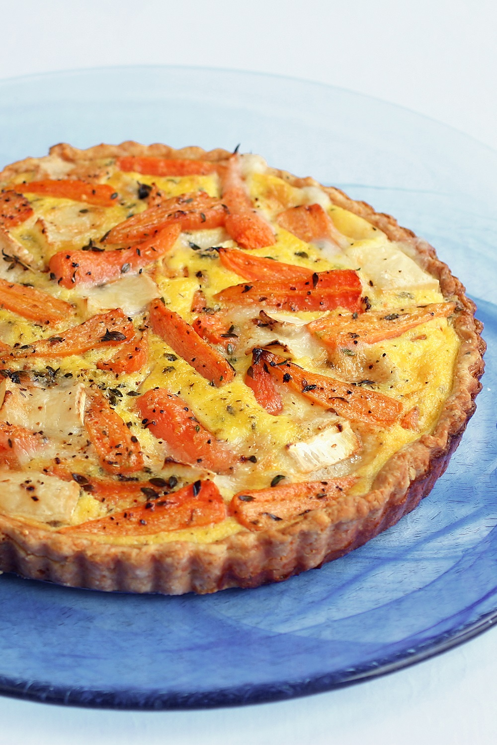 How To Make A Chantenay, Thyme And Goat's Cheese Tart