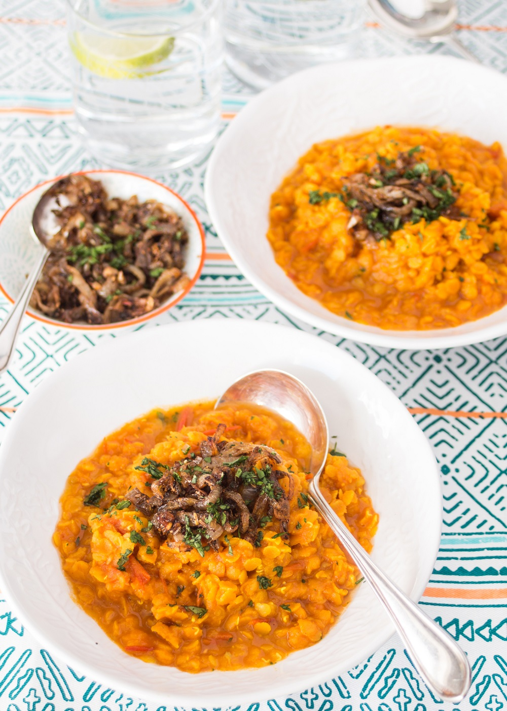 Isle Of Wight Tomato Dhal With Shallot Tadka