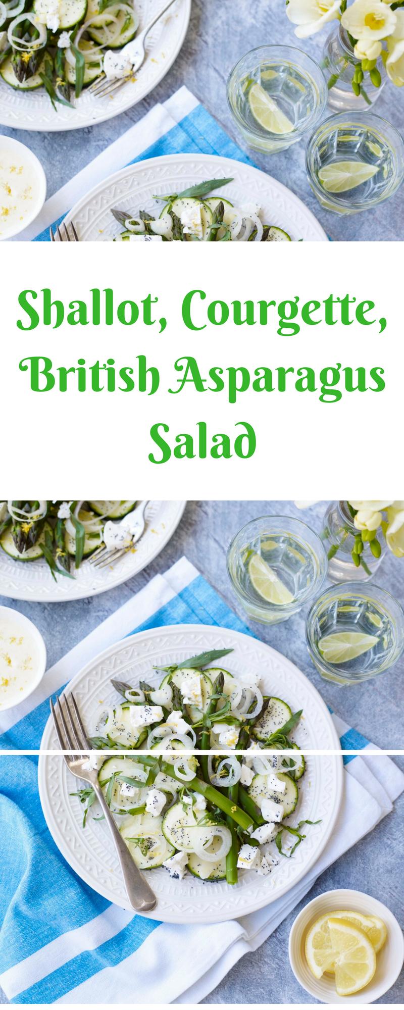 Shallot, Courgette, British Asparagus Salad
