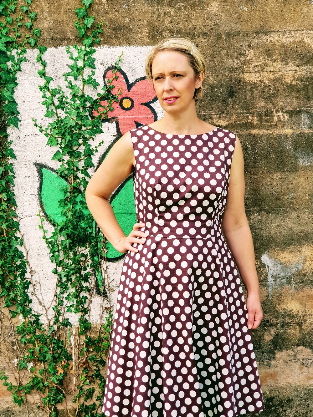 Brown Polka Dot Dress: Pretty Woman Style!?