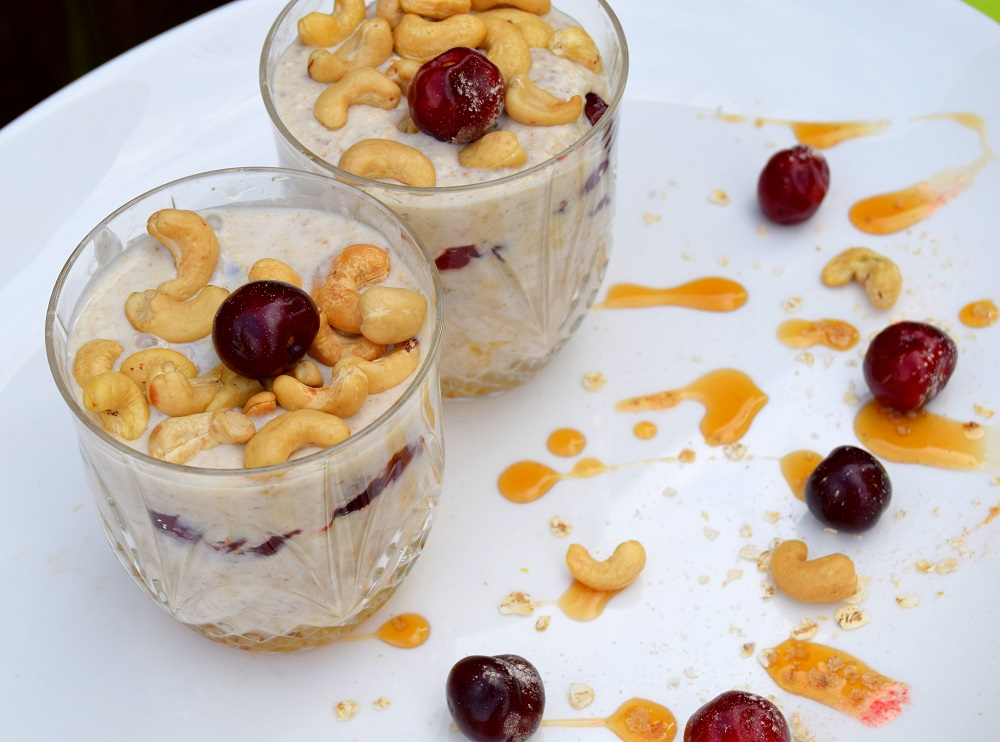 Overnight Oats With Picota Cherry Fruit Compote