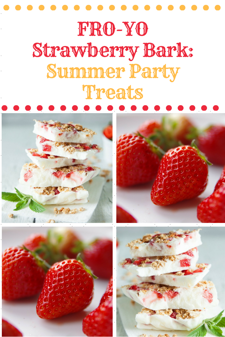 FRO-YO Strawberry Bark: Summer Party Treats