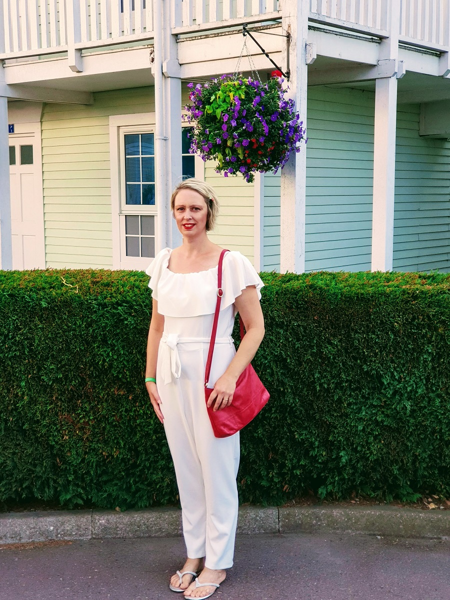 Off White Jumpsuit: OOTD #CreativeMondaysLinkUp