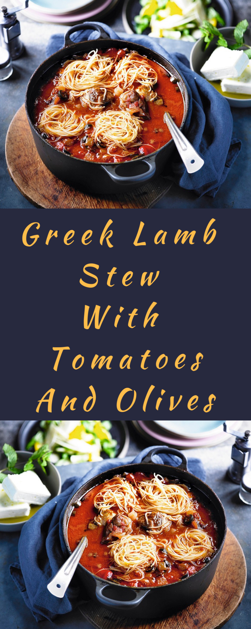 Greek Lamb Stew With Tomatoes And Olives