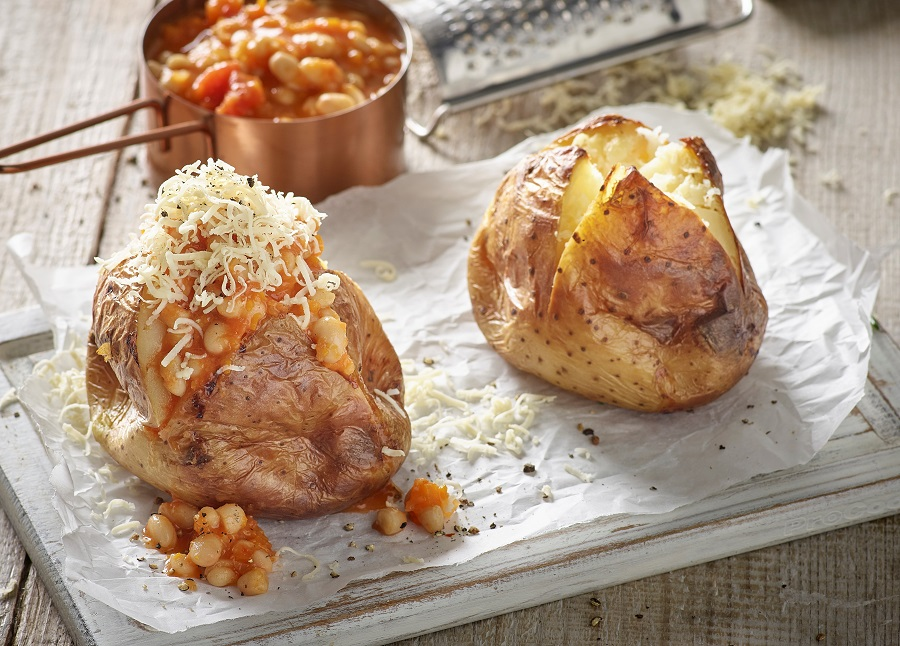 Home Baked Beans With Jacket Potatoes