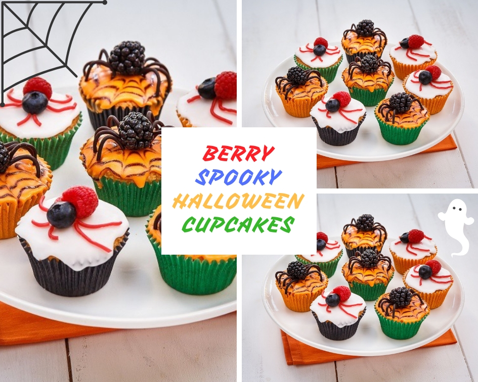 Berry Spooky Halloween Cupcakes Scary Party Food