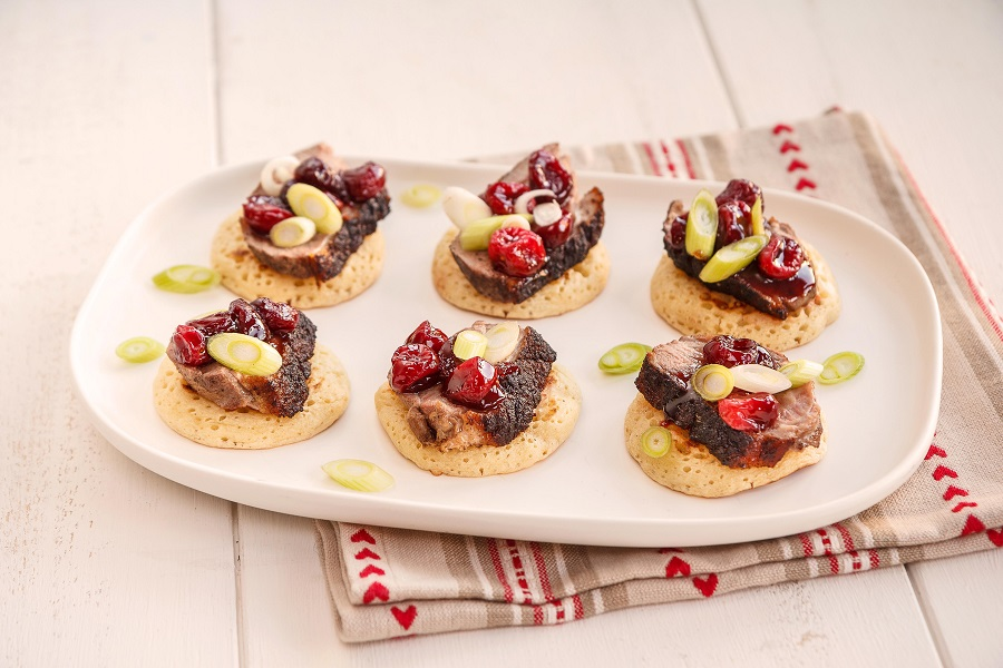 Duck And Cranberry Canapes