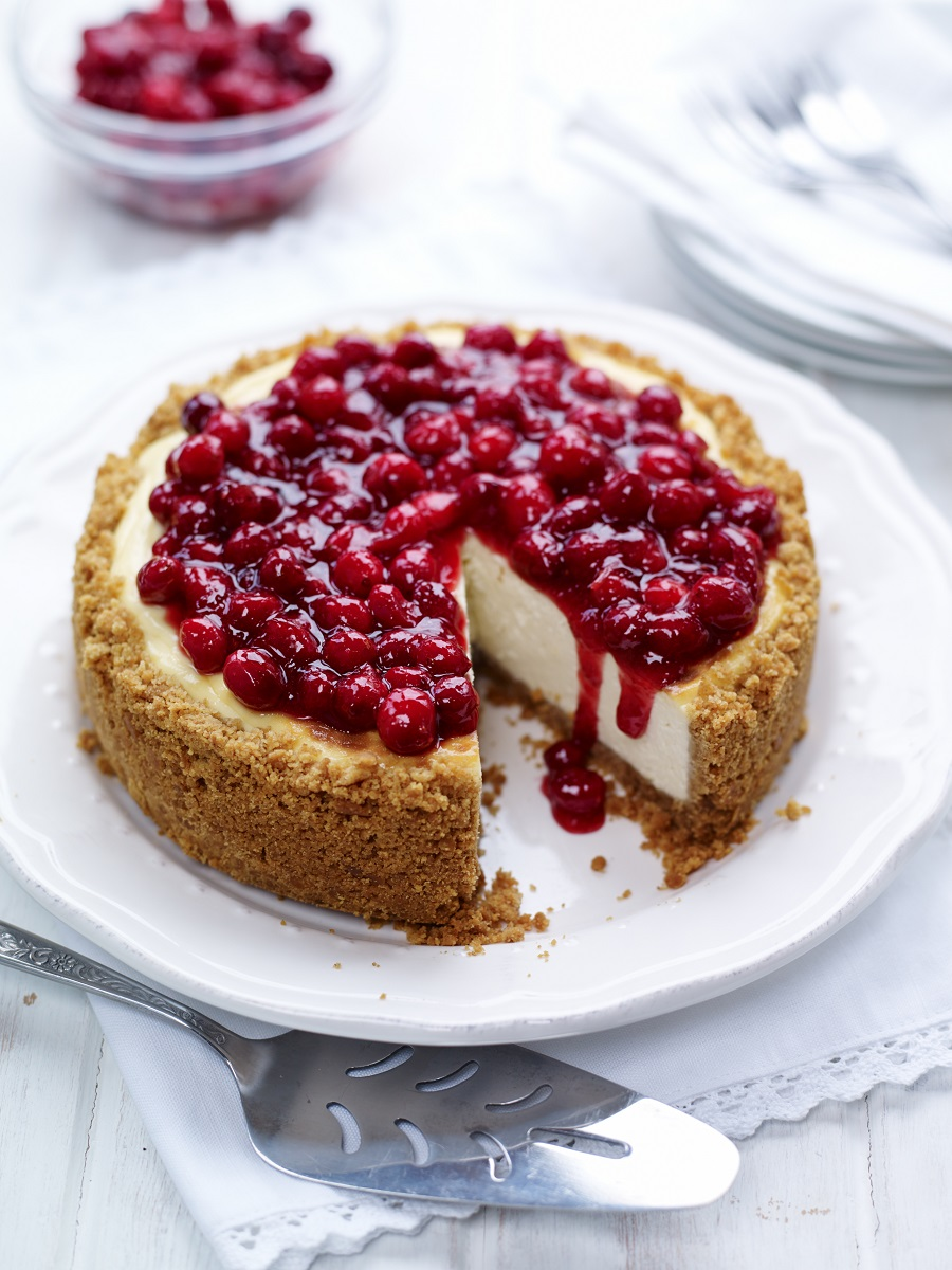 Cheesecake With BerryWorld Cranberry Glaze