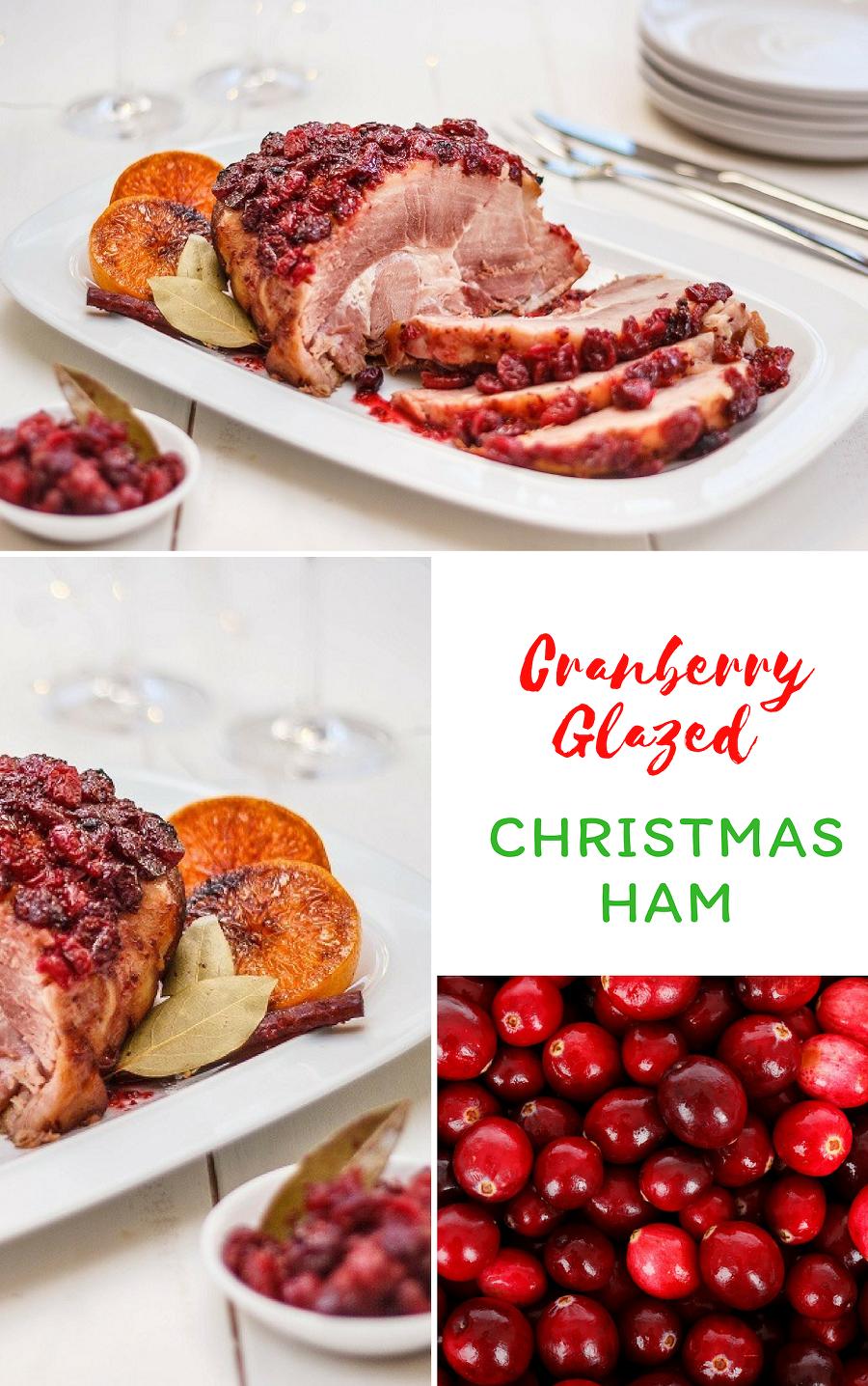 Cranberry Glazed Christmas Ham