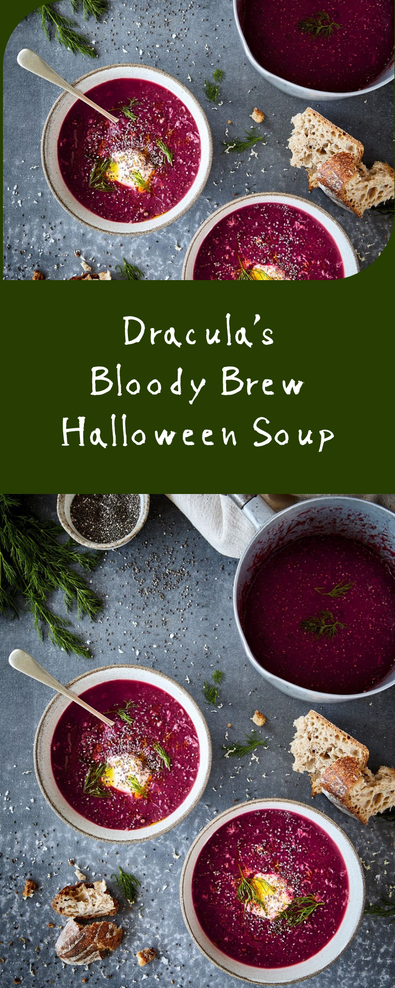 How To Make Dracula's Bloody Brew Halloween Soup