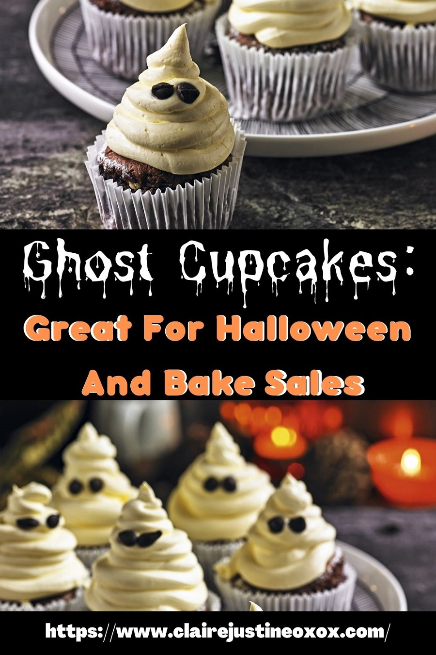 Ghost Cupcakes: Great For Halloween And Bake Sales