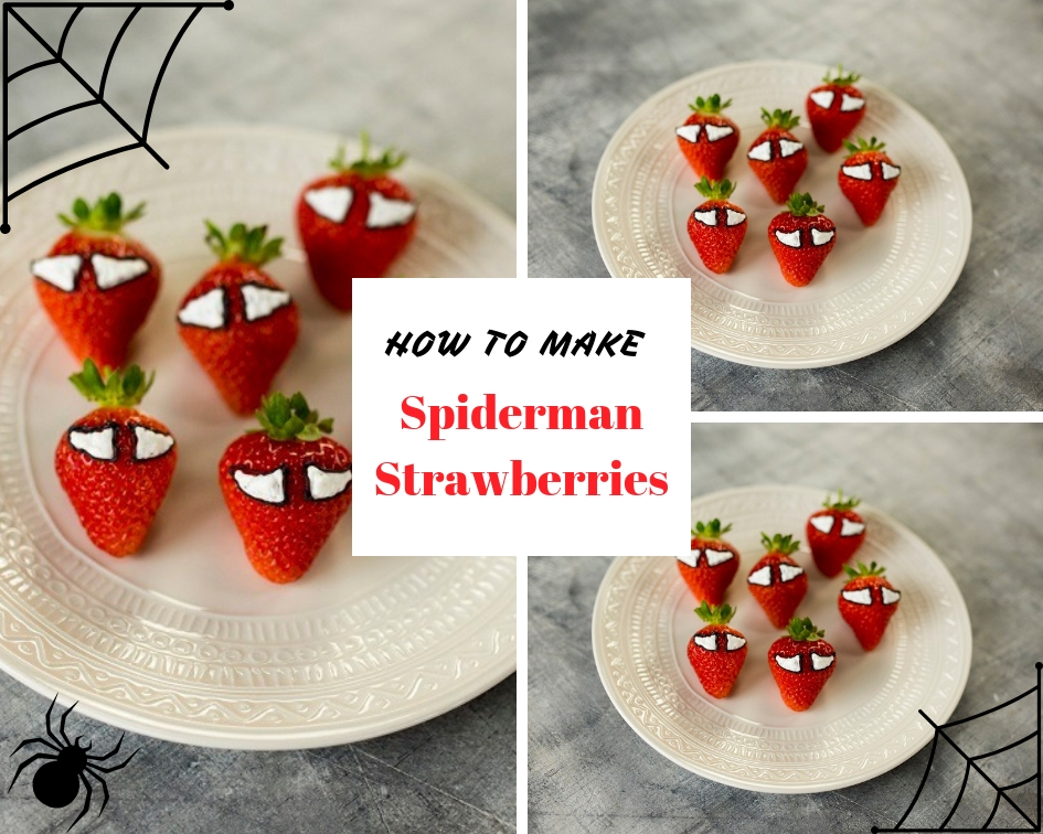 How To Make Spiderman Strawberries