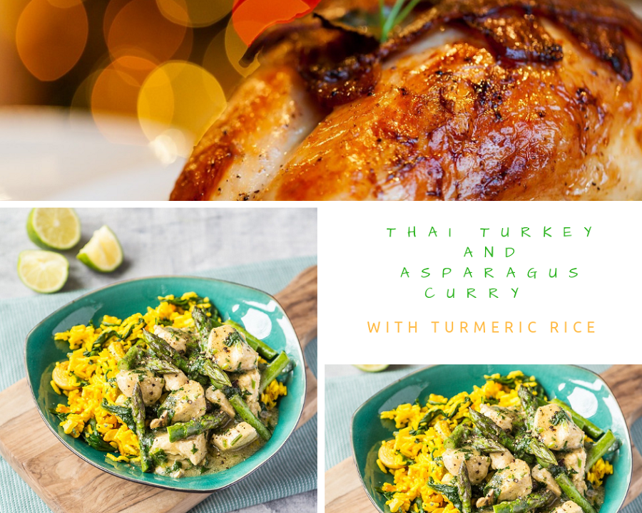 Thai Turkey And Asparagus Curry With Turmeric Rice