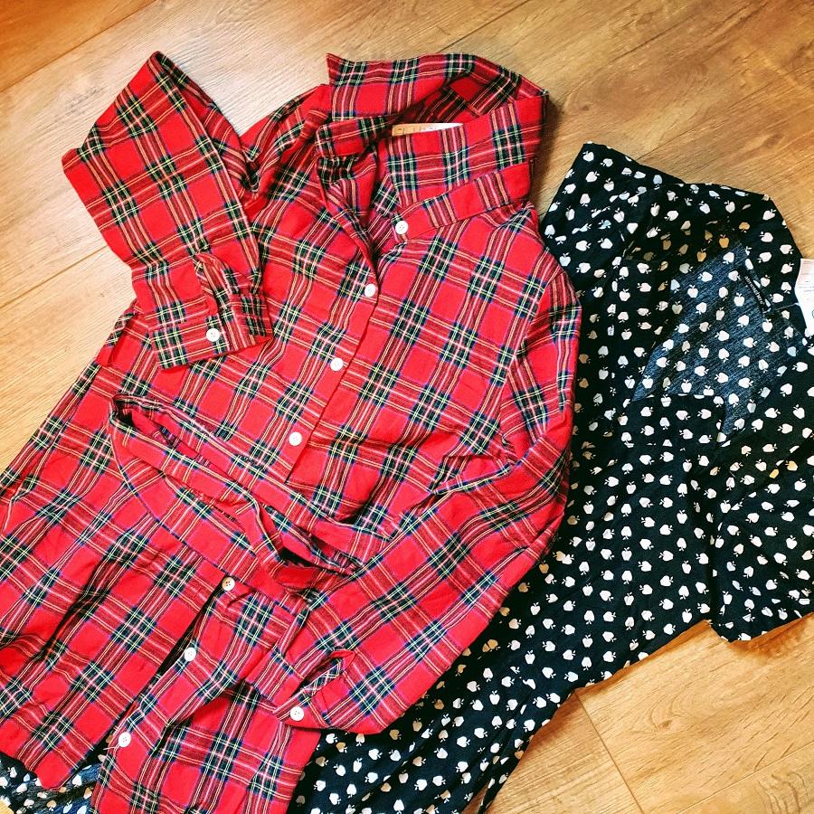 Thrift Thursday: Red Tartan Dress And An Apple Dress