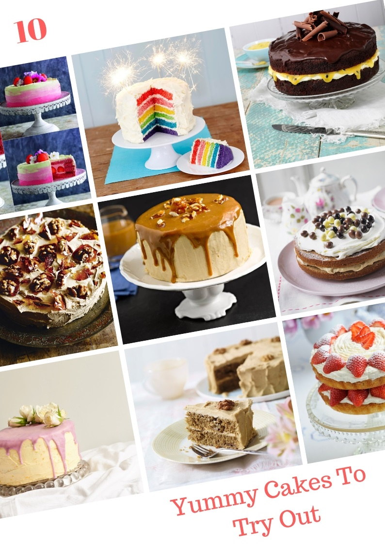 10 Yummy Cakes To Try Out