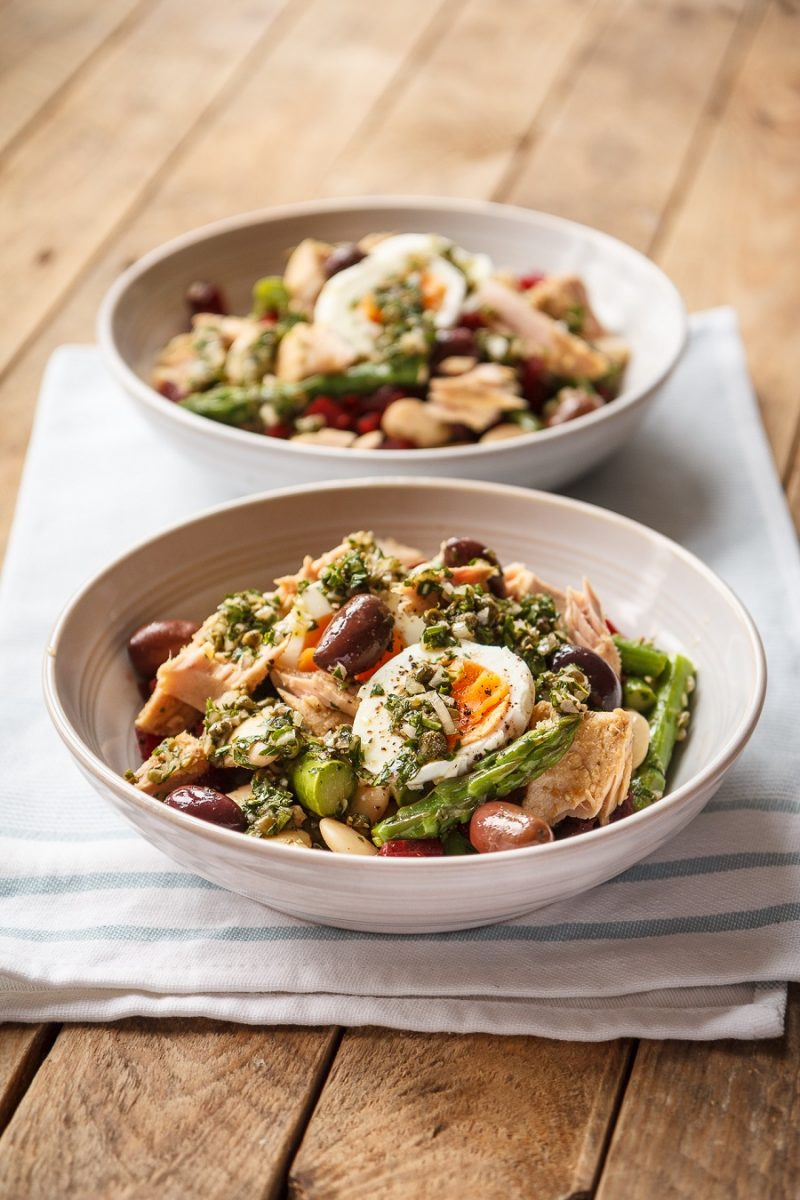 Asparagus, Tuna And Bean Salad With Shallot: How To