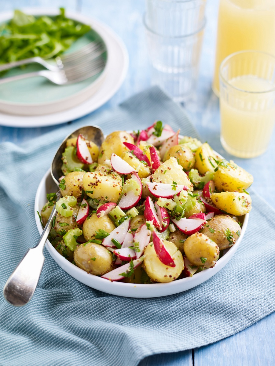 Radish And Celery Potato Salad