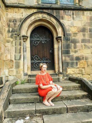 Orange Dress And Sandals: Throwback Thursday