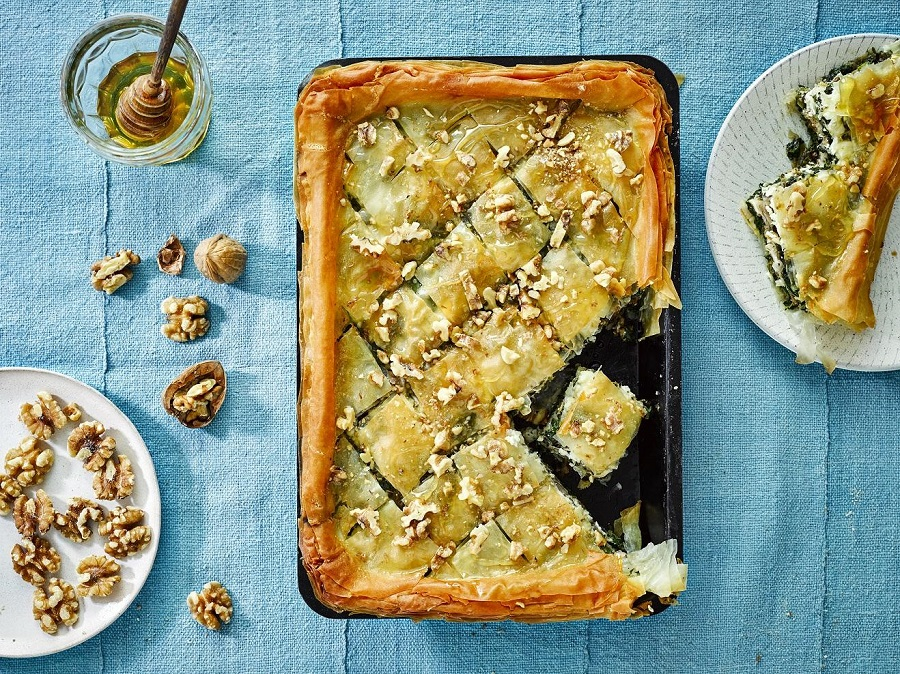 California Walnut, Spinach And Feta Baklava