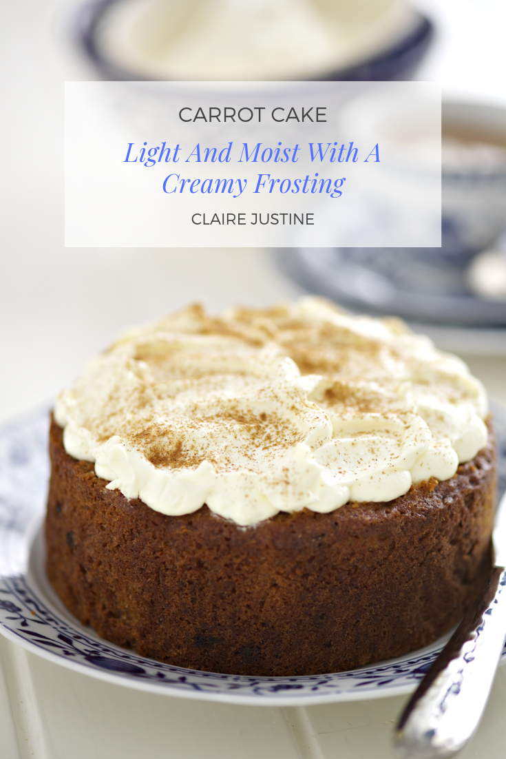Carrot Cake: Light And Moist With A Creamy Frosting