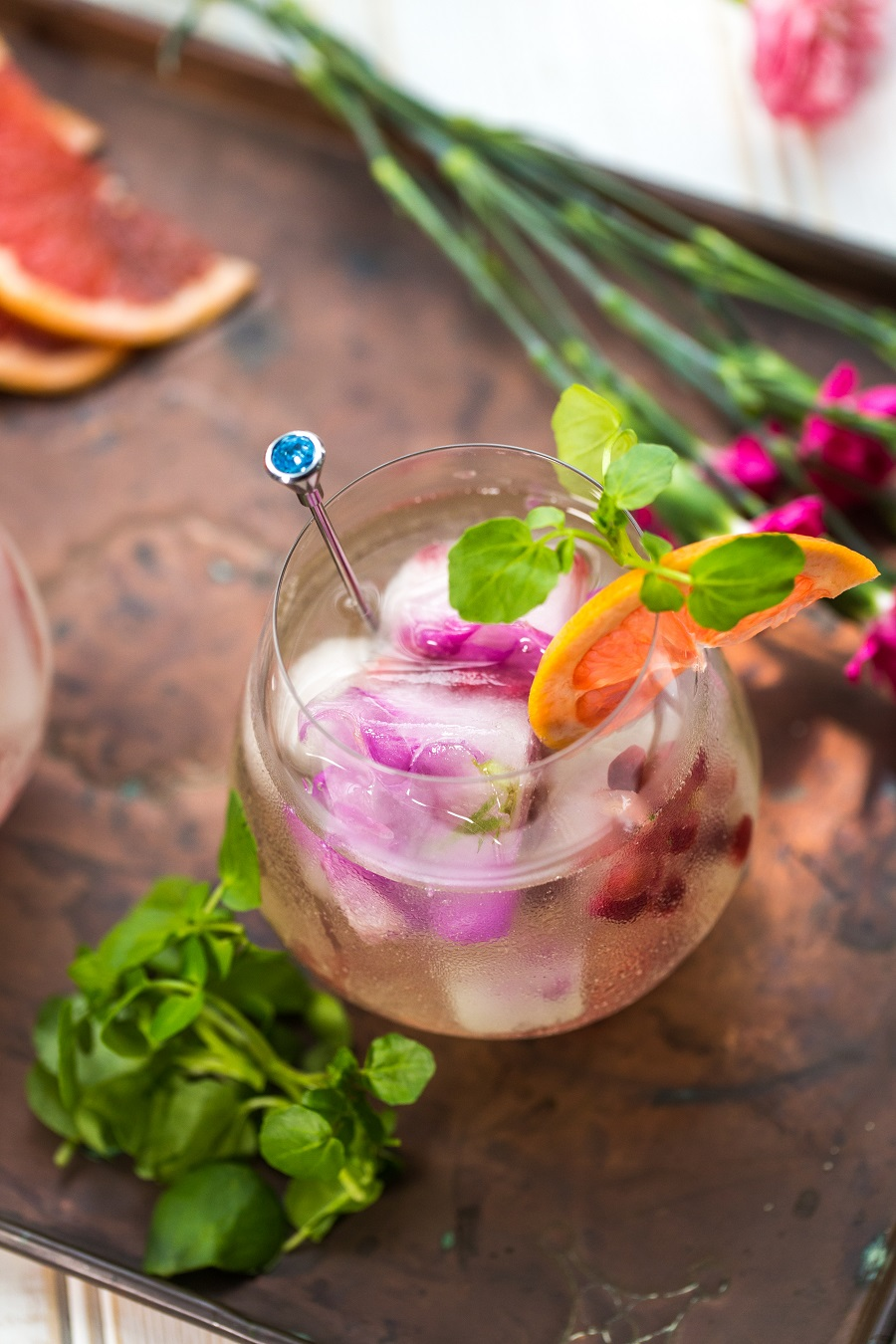 Gin, Watercress And Pink Grapefruit Cocktail