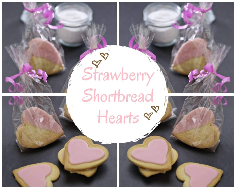 Strawberry Shortbread Hearts