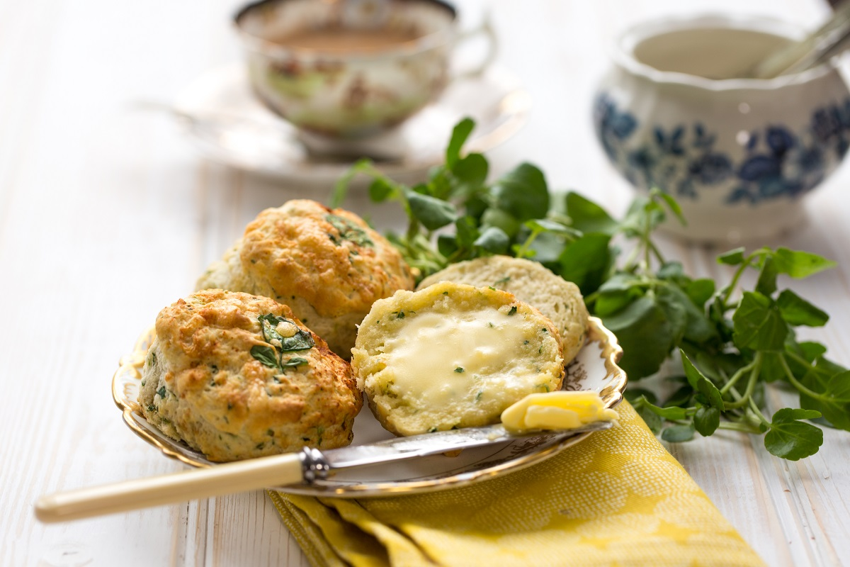 Watercress And Cheese Scones: Afternoon Tea