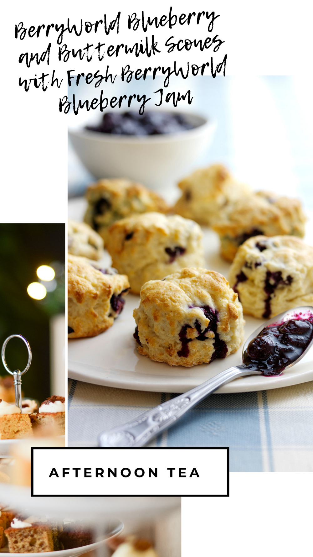 BerryWorld Blueberry   and Buttermilk Scones with Fresh BerryWorld Blueberry Jam