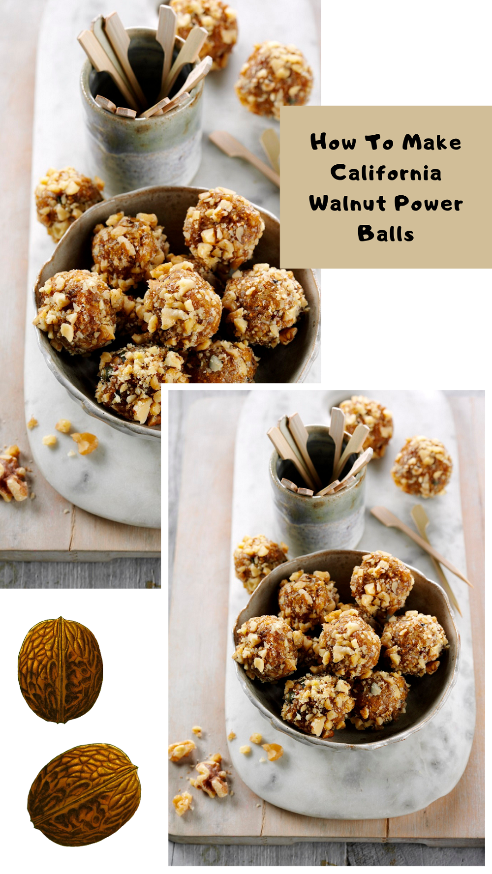 California Walnut Power Balls: